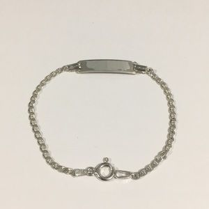 Silver Gucci Mariner Link Baby ID Bracelet